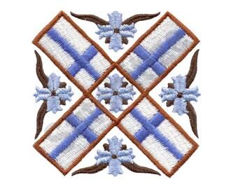 Finnish Flag - Machine Embroidery Design, Finland