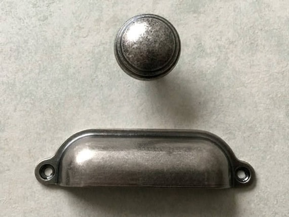 Good Cup Drawer Pull Handles Dresser Pulls Knobs Antique Black Silver Pewter  Kitchen Cabinet Pulls Knobs Pull Handle Rustic Decorative Hardware From ...