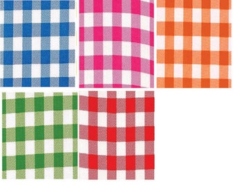 Oilcloth By The Yard   Large Gingham   Your choice by the Roll