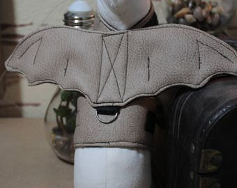 Made to Order - XXXS Ferrets / Small pets Harness-Bat Wing Harness- Light Tan