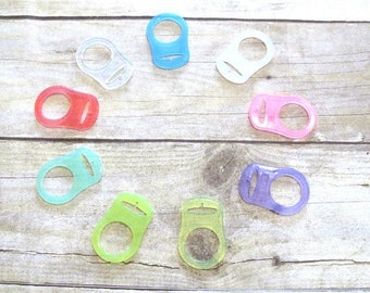 Mam or Nuk Pacifier Adapter ,Color Silicone Pacifier Adapter for button style pacifiers -Pick the color