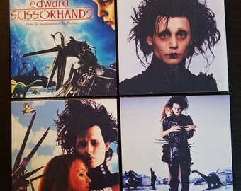 Edward Scissorhands coaster set