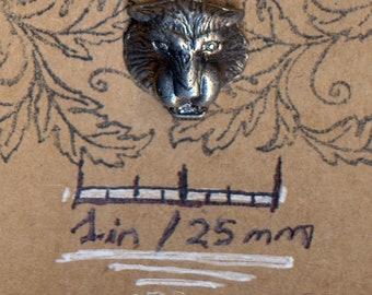 Mountain Lion Head 745 Copper Nickel Zinc Silver Alloy Vintage Lapel Pin Souvenir Hat Pin Jewelry Brooch Badge Button