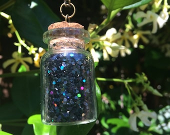 Luck in a Bottle Glitter Necklace