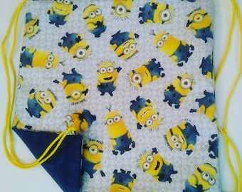 Minions Reversible Drawstring Bag