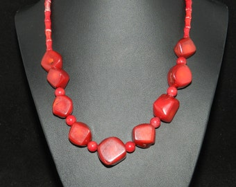CLEARANCE * FT602 Red Coral Necklace
