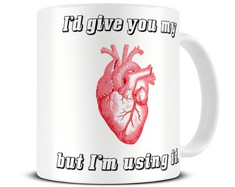 Anatomical Heart Coffee Mug - valentines gifts - medical student gift - surgeon gift - doctor gift - med student gifts - anatomy art MG471