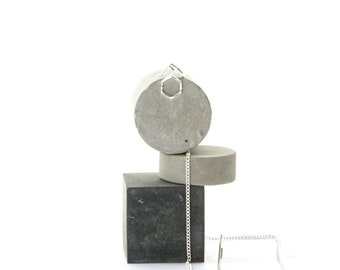 Concrete Still, Jewellery Display Stand Set of 3, No14 Cube Cylinder Photo Prop, modular Geometric Cement Still, photography styling blocks