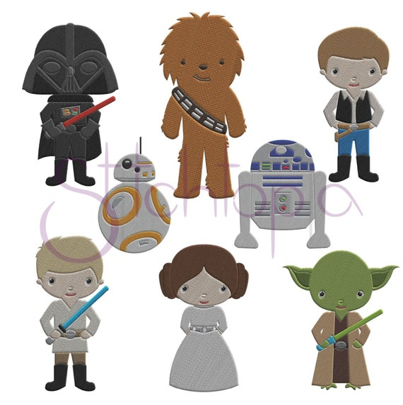 Space Guys Embroidery Design Set Star Wars Digital Machine