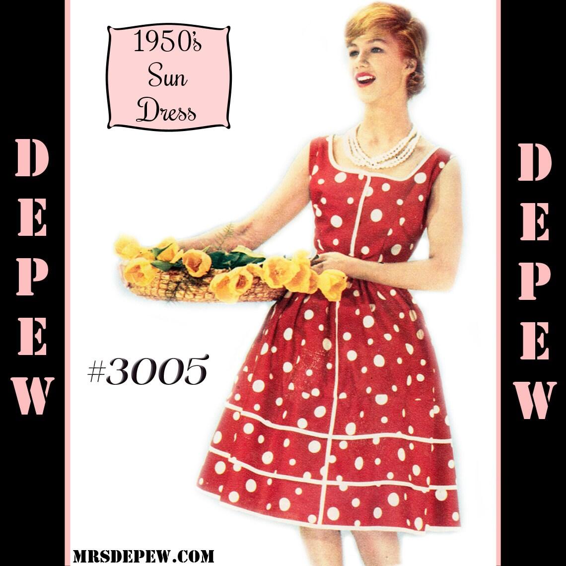 Alte Schnittmuster 50er Damen Französisch Sun Kleid zu Hause