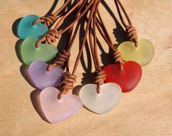 green sea glass pendant heart sea glass beach jewellery ocean pendant sea glass necklace sea foam pendant green sea glass heart