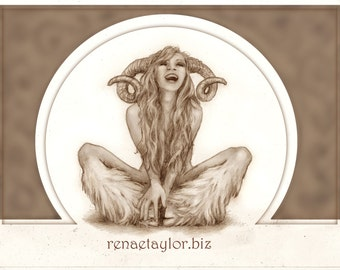 Laughing Faun by Renae Taylor