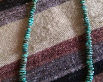 Santo Domingo Menassa Green Turquoise Nugget  Collectible Necklace Native American USA