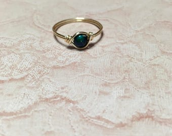 Green to dark blue mood ring