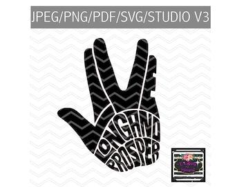 Live long and prosper SVG