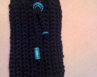 Crocheted Cell Phone Case - Black