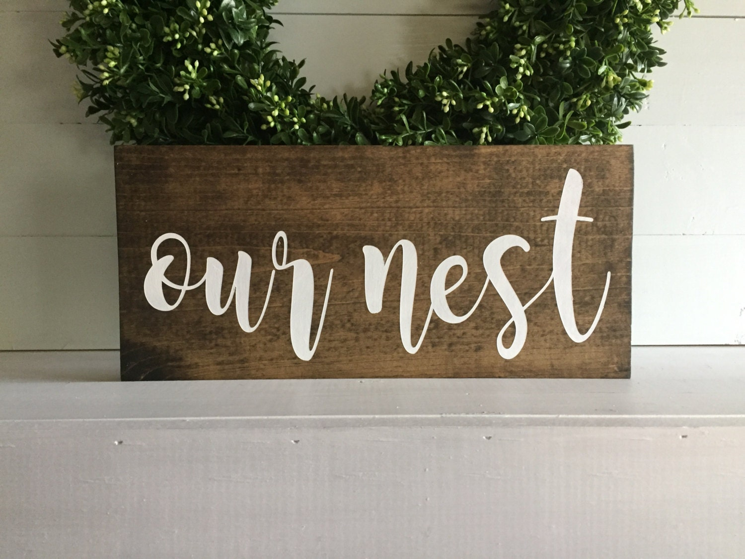 Our nest our nest sign our nest wood sign custom sign zoom kristyandbryce Images