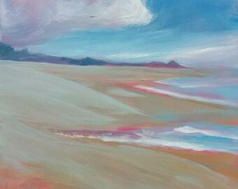 Lincoln Beach 2 original oil seascape painting