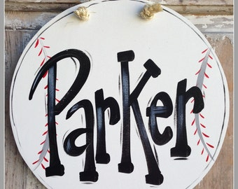 Baseball, Sign, Plaque, Boy, Door Sign, Bedroom Door, Wall Art, Boy Art, Baseball Art, Personalized