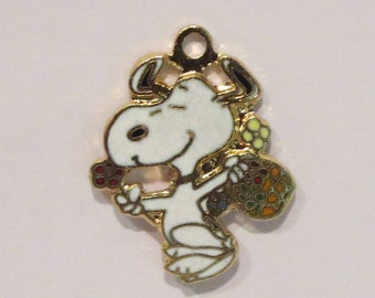 """Vintage Snoopy """"The Easter Beagle"""" Charm By Aviva"""
