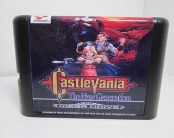 Castlevania the New Generation fan made Sega Genesis Mega Drive game cartridge