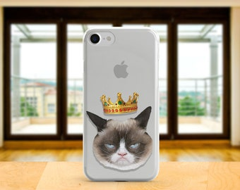 Grumpy Cat Tardar Sauce Case Iphone 8 case Samsung S9 case  XL  case Iphone X Animals cover Galaxy A5 Grumpy King case Iphone 7 Brand Gift