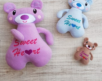 Sweetheart Bear ITH Embroidery Pattern