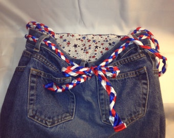 Denim Patriotic Purse