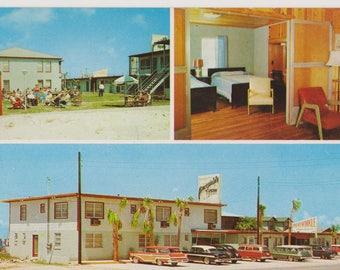 Periwinkle Apartments, Laguna Beach, Florida, Vintage Postcard, 1950's Travel, Old Motels, Ephemera