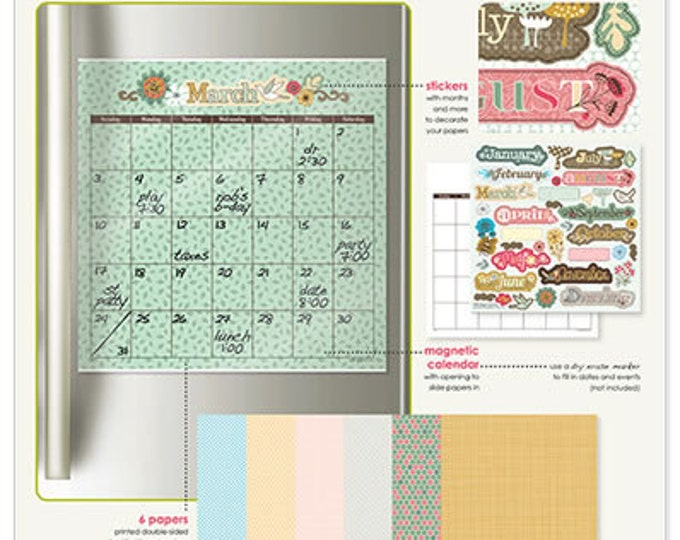 Mothers Day Gift, Craft Calendar Dry Erase Monthly Calendar Kit, 2019 calendar, Magnetic Calendar, grad gift