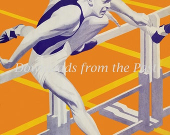 1940s Relay Race Ad from R.A. Long High School Longview Washington Vintage Digital Download