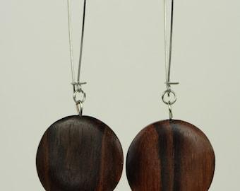 RR#62 - Wood Disc Earrings