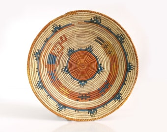 Vintage Navajo Rainbow Yei Basket
