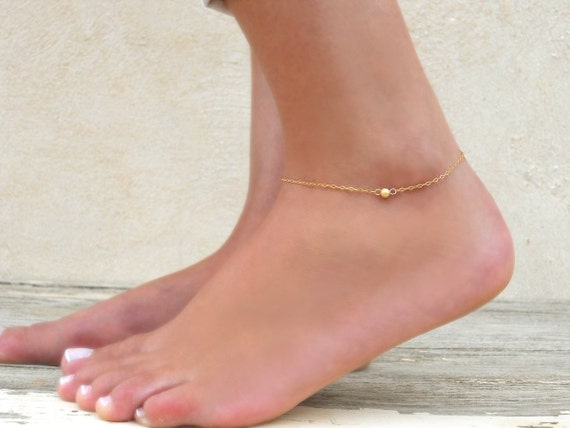 dainty baronykajd by gift bracelet anklet gold ankle jewelry bridesmaid pin delicate foot