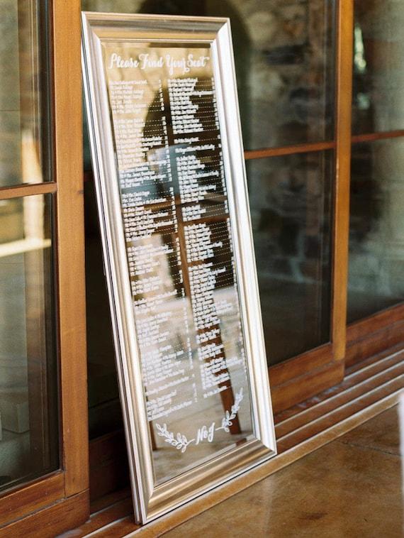 Custom Wedding Seating Chart Escort Board Personalized