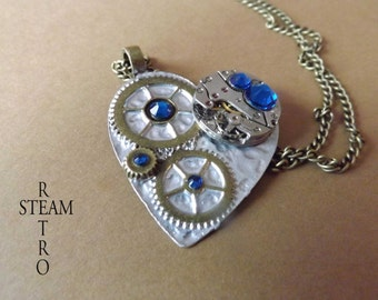 Clockheart Capri Steampunk necklace - Steampunk Jewelry by Steamretro - personalized jewelry - steampunk - necklace - steampunk jewellery