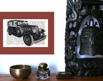 Rustic Home decor | Wall decor | Oldtimer Art Print | Farmhouse decor | New Home | Shabby Chic | Book Art | Housewarming Gift