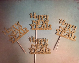 New Years Eve Cake Topper, New Years Eve, New Years Eve Party, 2018 Cupcake Toppers, New Years Eve Decor, NYE Decor, Graduation 2018
