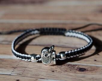 Silver Elephant Custom Adjustable Bracelet