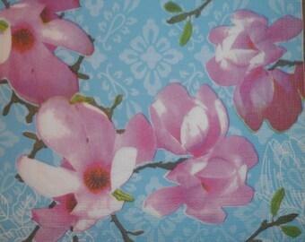 138 magnolia flower napkin