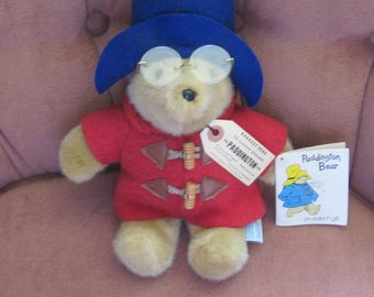 Paddington Bear Original w. Tags and Glasses