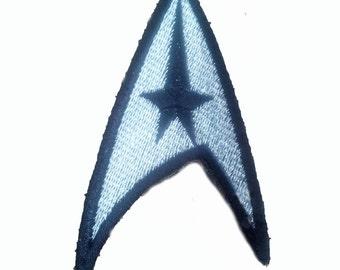 "silver STAR TREK Insignia Patch Badge 2""x3"""