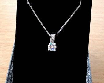Wedding pendant Wedding necklace Bridal pendant Bridesmaid necklace wedding pendants Bridesmaids pendant tiny crystal pendant necklace Jm