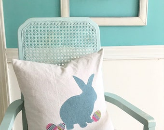 Bunny Rabbit pillow, Easter pillow, Easter decor, farmhouse Easter pillow