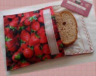 Sandwich Bag / Ecological Bag / Snack Bag / Snack Bag / Reusable Bag / Zero Waste / MOTIF: Melon and Ants