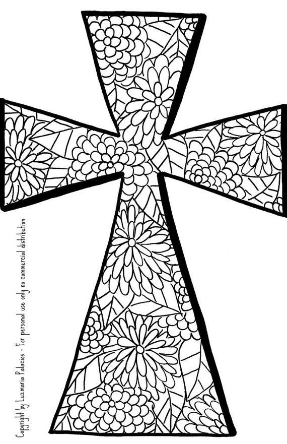 Magnífico Página Para Colorear Cruz Molde - Ideas Para Colorear ...