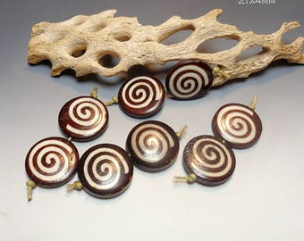 Batik Bone Coins