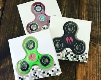 Fidget Spinners - Monogrammed Fidget Spinners- Personalized Fidget Spinners - Fidget Toys - Spinner Toys - Monogrammed Gifts for Kids
