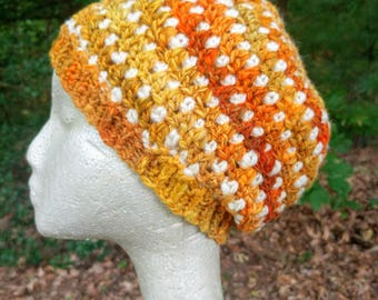 Pumpkin Spice Hand Crocheted Hat