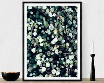 Romantic Leaves Printable Art, Love Nature Photography, Spring Plants Decor, Digital Prints, Modern Wall Art, Green Nature Poster, Download